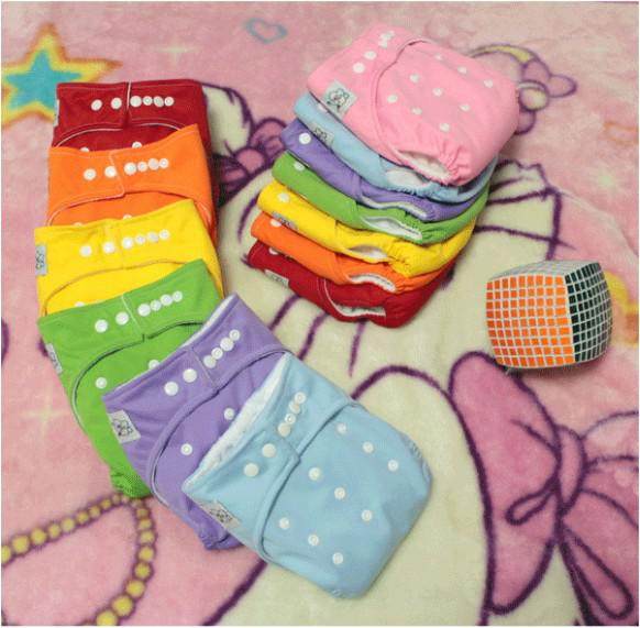 best selling 10 Diapers +10 Inserts Diapers Baby Cloth Diapers Suppliers Baby Diapering ,10pcs lot,