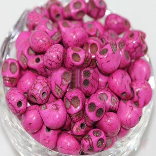 Mix Skull Turquoise Gemstone Branelli allentati Charms Colorful Bead Fit Fai da te Handcraft 12mm