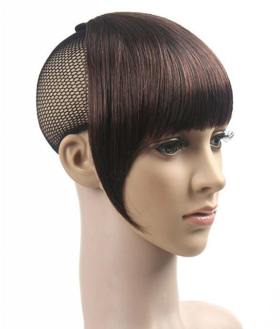 dames de frange de cheveux 100% morceaux de cheveux synthétiques bangs synthétiques BANG3 livraison gratuite