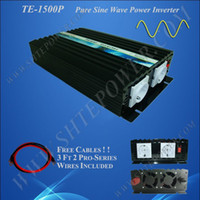 Wholesale peak inverter resale online - 1500W V to V Pure Sine Wave Power Inverter with CE ROHS approved kw peak power FREE SHIPPIN
