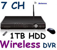 Wholesale Home Dvr Ch - Home security WIRELESS DVR system 7 CHANNELS h.264 Network support 3ch wired + 4 ch wireless signal