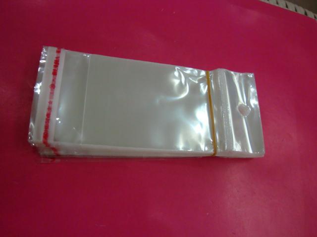 1000pcs / lot 7 * 14cmclear OPP sacos de plástico auto-adesivo com um ajuste cartão para a exibição de jóias embalagens