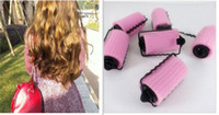 Rouleaux D'éponge Diy Pas Cher-Vente en gros sans frais Shpping beauté Cute Magic Soft Hair Rollers Foam Curlers Sponge Strip DIY Styling