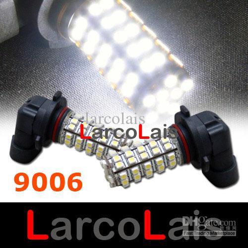 2ピース9006 HB4 68 LED 1210 SMDカーフォグランプ電球ホワイト68-LED 3528 12Vオートライト電球LLCB7575