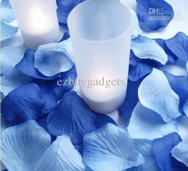 Mixed dark blue light blue silk rose petals wedding party decor mixed dark blue light blue silk rose petals wedding party decor favor silk flower centerpieces silk flower wedding bouquets from ezbuygadgets mightylinksfo