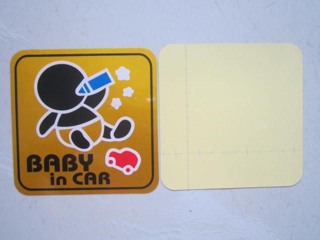 50 pçs / lote atacado reflexivo bebê em adesivos de carro para tanque de combustível do carro adesivos decalques do carro engraçado