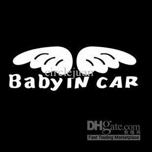 100 UNIDS / LOTE Chap Vinyl Baby in Car Funny Car Decals Stickers 18cm Pegatinas de Ventana de Coche China