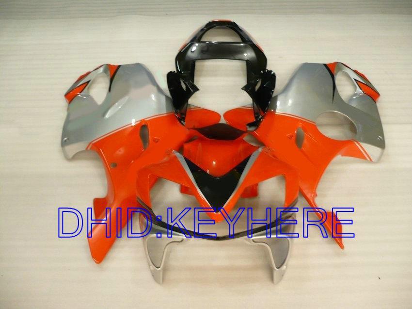 혼다 CBR600 F4i 용 오렌지 실버 페어링 키트 2001 2002 2003 cbr 600 CBRF4i 01 02 03 차체