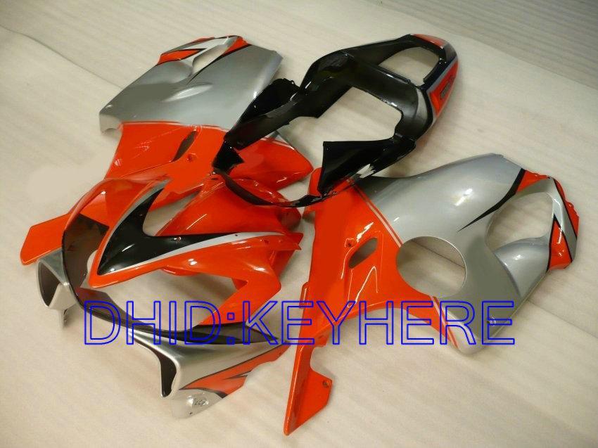 Oranje Silver Fairing Kit voor Honda CBR600 F4I 2001 2002 2003 CBR 600 CBRF4I 01 02 03 Carrosserie