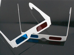 Wholesale Red Cyan Glasses - 3D Paper Glasses Red & Blue Cyan Paper Card 3D Anaglyph Glasses Offers a Sense of Reality Wholesale 200 Pairs
