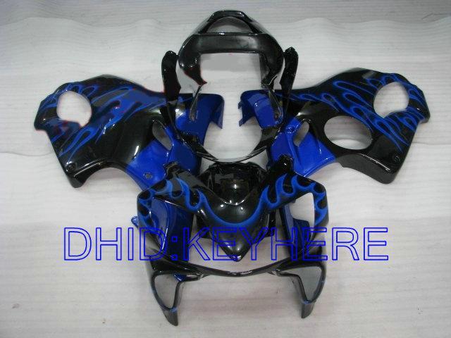 Honda CBR600 F4i 2001 2002 2003 용 Blue Flame Fairing 키트 CBR 600 CBRF4i 01 02 03 차체 페어링