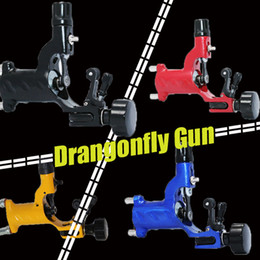 Wholesale Dragonfly Tops - High Quality Dragonfly Rotary Tattoo Motor Machine Gun 4 Colors Assorted Tattoo Kits Supply Top Grade