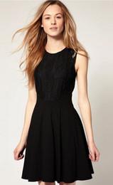 Wholesale Swing Back - Hot Sale Elegant 50s Black Classic Hepburn Dress with Lace Back Audrey Hepburn Dress 50s Swing Dress