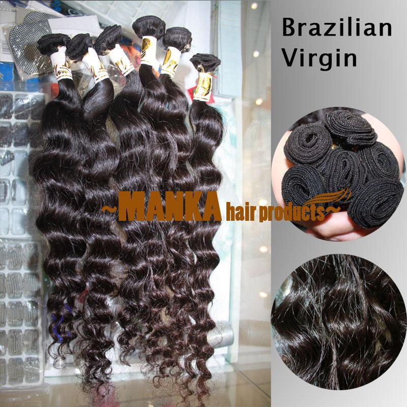 20-28inch 40G=1.4oz/PCS 100% brazilian virgin human hair extension deep wave