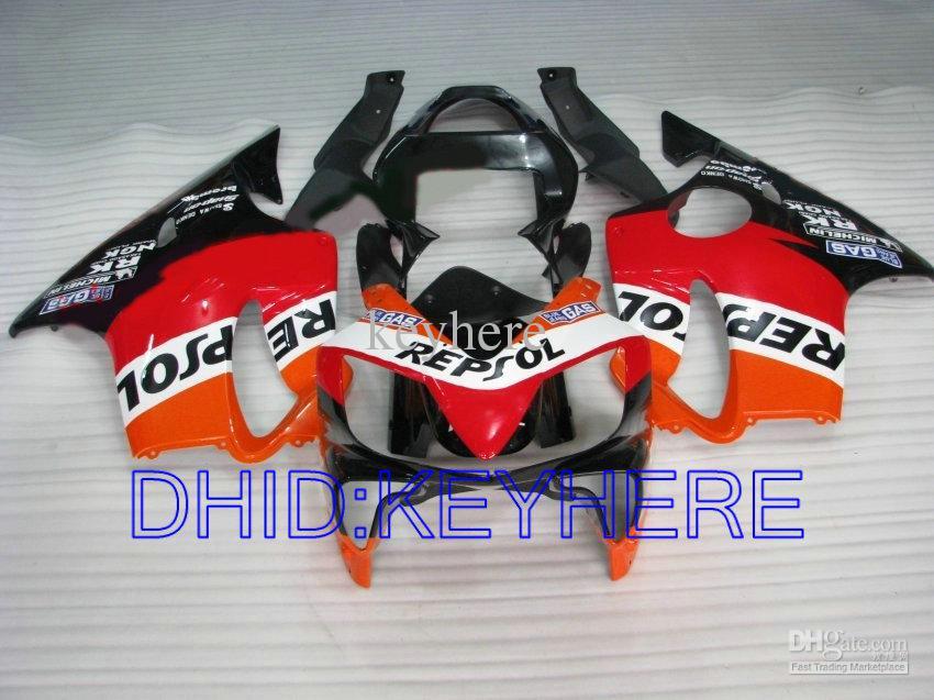 Repsol Fairing Kit för Honda CBR600 F4I 2001 2002 2003 CBR 600 CBRF4I 01 02 03 Kroppsarbeten