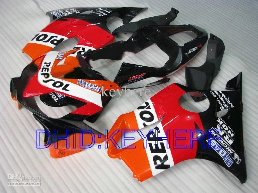 Kit de carenado REPSOL para Honda CBR600 F4i 2001 2002 2003 cbr 600 CBRF4i 01 02 03 carenados de carrocería