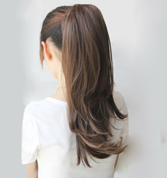 Wholesale Natural Hair Extensions Ponytail - ladies' ponytails claw clip-in ponytails synthetic hair extension hairpieces 3colors 2 ways to wear