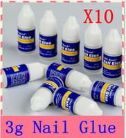 Wholesale Byb Nail Glue 3g - 10pcs lot ,3g piece BYB bond Nail Glue free shipping Nail Gel