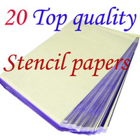 Wholesale Spirit Stencil - solong tattoo 20 Sheets A4 Tattoo Transfer Stecial Paper Spirit Master Top Quality Free Shipping T-801-2