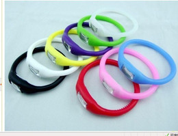 Wholesale Silicon Health Bracelet - Anion Health Sports Wrist Digital Bracelet Silicon Unisex Rubber Jelly Ion Watch Mixed Colors Free DHL Fedex UPS Factory Price 413