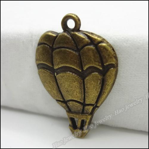 Fashion Hot air balloon Charms Pendants Antique bronze zinc alloy Necklace Jewelry Craft 150pcs/lot