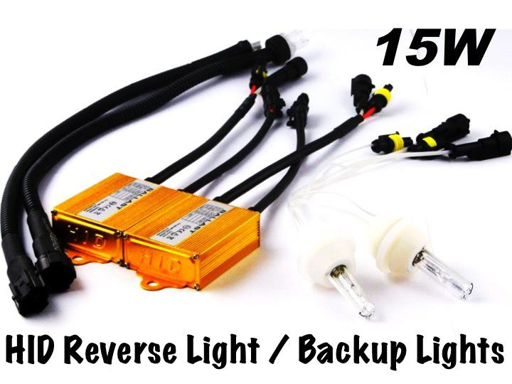 HID REVERSE BACK-UP FOG Light Xenon Kit 12V 15W T15 T20 S25 7506 1156 P21W 6000K vit kort lampa