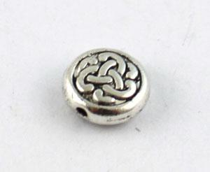 tibetano prata metálica celta do nó esferas planas 9,5 milímetros A8934