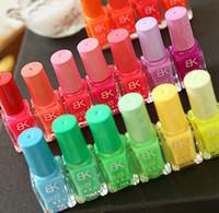 brillo de barniz al por mayor-Moda NUEVA Luminous Nail Art Polish Barniz Brillo en la laca de esmalte de uñas oscuro 20 colores