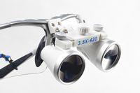 Wholesale Dental Medical Binocular Loupes - Dentist Silver Dental Surgical Medical Binocular Loupes 3.5X 420mm Optical Glass Loupe