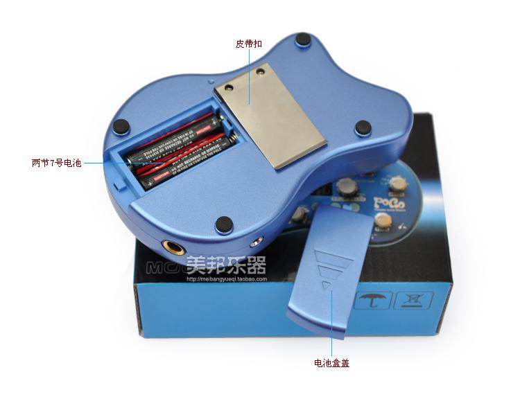 Gitarr Effekter / Design Effekt Pedal Mouer Pogo Portable Multi Effect Pedal True Bypass 5 Effect Mod