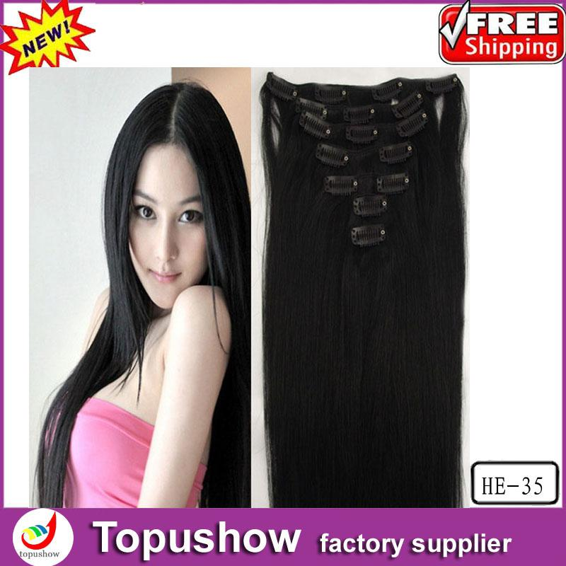 Long cheap peruvian virgin clip in remy real human hair extensions 7pieces long cheap peruvian virgin clip in remy real human hair extensions full black 70g 20 inches he 35 free shipping pmusecretfo Image collections
