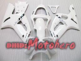 Wholesale 636 Ninja White - Injection molding fairings For KAWASAKI ZX6R 03-04 ZX-6R 2003-2004 6R 03 04 ZX 6R 636 2003 2004 03 04 white Fairing kit + gift