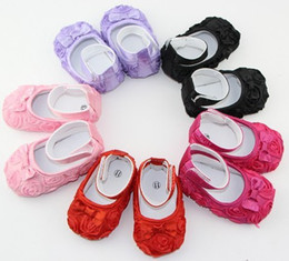 Chinese  3pairs multicolor Mary Jane toddler baby girl Flower shoes Roses bow shoes manufacturers