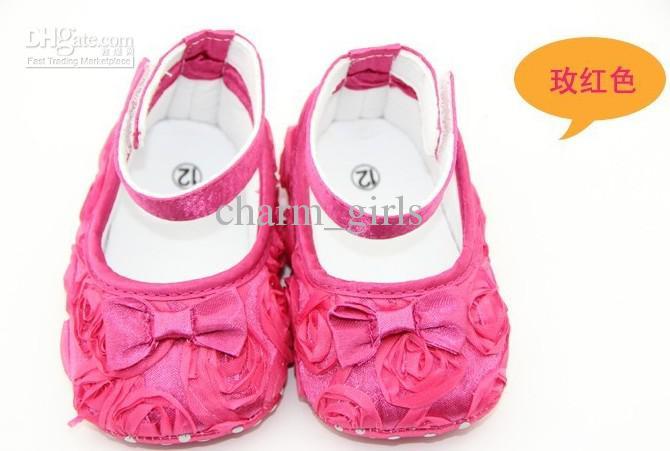 3pairs 여러 가지 빛깔의 메리 제인 유아 아기 소녀 꽃 신발 장미 신발 활