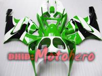 Wholesale kawasaki zx7r green white fairing - Fairing kit for KAWASAKI ZX-7R 96-03 ZX7R 1996-2003 ZX 7R 96 97 98 99 00 01 02 03 fairings green white v44533f5