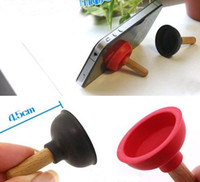 Wholesale Cell Phone Plunger Stand - iPlunger Plunger Sucker Stand for Cell Phone iPhone iPod, 3000pcs lot Free DHL