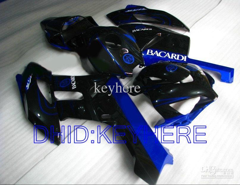 블루 BACARDI Honda CBR1000RR 2004 2005 CBR1000 CBR 1000RR 04 05 페어링 키트 용 사출 성형