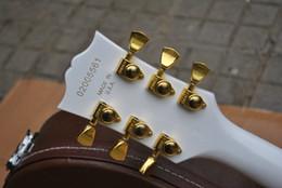 Gitarren stimmzapfen online-NEUE Gitarren-Tuner GROVER Golden Silver Guitar-Stimmwirbel 3L + 3R Guitar Parts Auf Lager Freies Verschiffen
