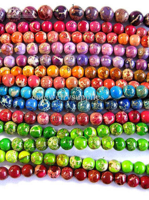 Hoge qulity ronde bal assortiment kleur keizerlijke Jasper Gemsotne kraal 10mm --- 10strands