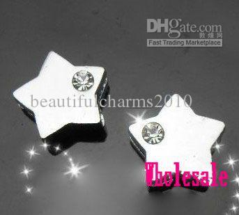 / 8mm une glissière d'étoile strass charmes adaptées pour 8mm bracelet bracelet porte-clés Bijoux DIY