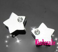 Wholesale Diy 8mm Star Slide Charms - Hot sale 100pcs 8mm star slide charms fit 8mm wristband DIY Jewelry 013