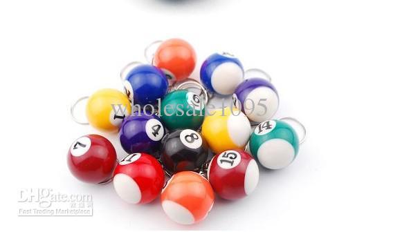 Mini Ball Pool Billiards Snooker Table Ball Keychain Best Gift