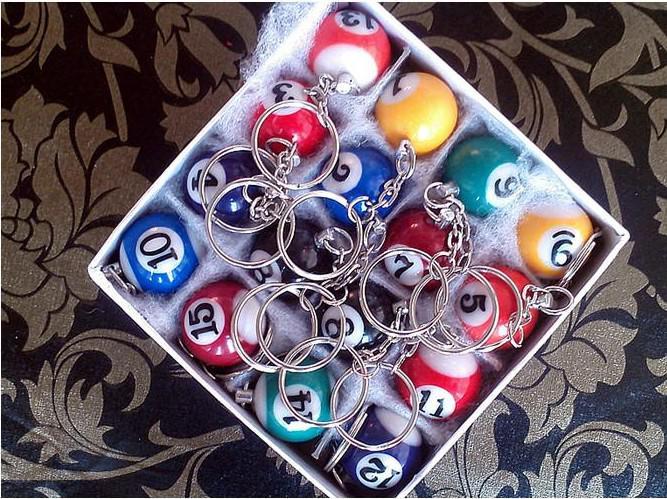 Mini Ball Pool Billard Snooker Tisch Ball Keychain Bestes Geschenk