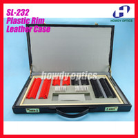 Wholesale Trial Case Lenses - SL-232 Trial lens set ophthalmic trial case Plastic rim with lens diameter 26mm Leather case