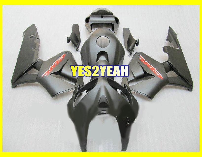 Matte Black Injectie Fairing Body Kit voor HONDA CBR600RR 05 06 Carrosserie CBR6ARR 2005 2006 CBR 600 RR CBR600 RR-FUNDINGS SET