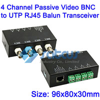 Video Balun 4 canali passivi Video BNC a UTP RJ45 Balun Transceiver