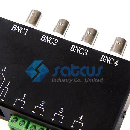 Video Balun 4 Channel Passive Video BNC till UTP RJ45 Balun Transceiver