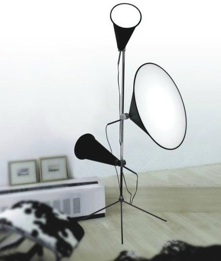 2018 Floor Lamp Modern Creative Designer Cone Light Tripod Stand ...