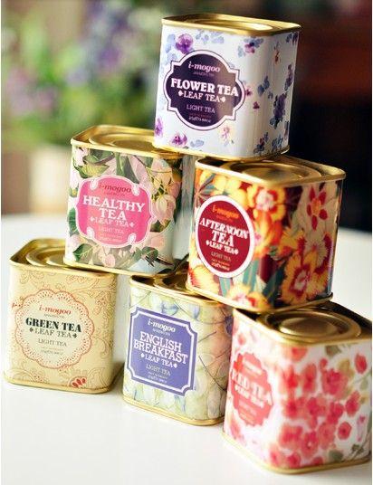 Hot Sale English Vintage Tea Storage Tin Box Iron Cases