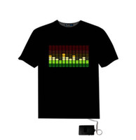 Wholesale Led T Shirts - Christams Flashing T Shirt Light Up Down Music Party Equalizer LED T-Shirt Various Styles Dancing LED T-shirt